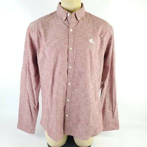 Express Mens Shirt Size XL Red Button Down Long Sl
